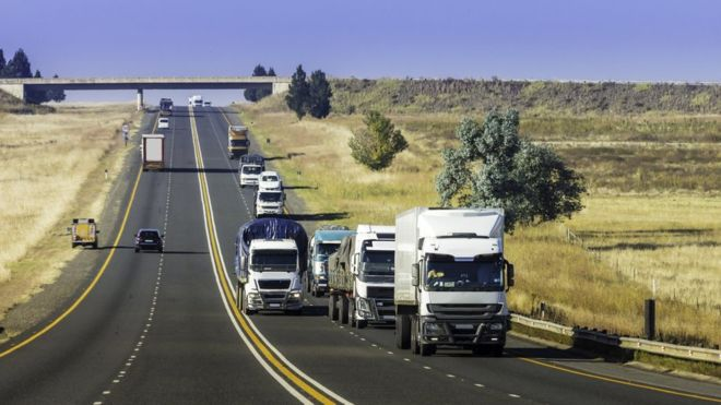 South Africa'sroad freight transport decreases