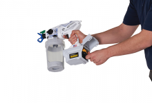 SaniSpray HP airless disinfectant sprayers for sanitising, disinfecting and deodorising jobs